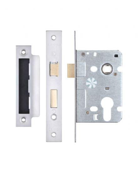 Zoo Hardware ZSC64EPSS Euro Profile Sashlock Case 64mm Satin Stainless Steel